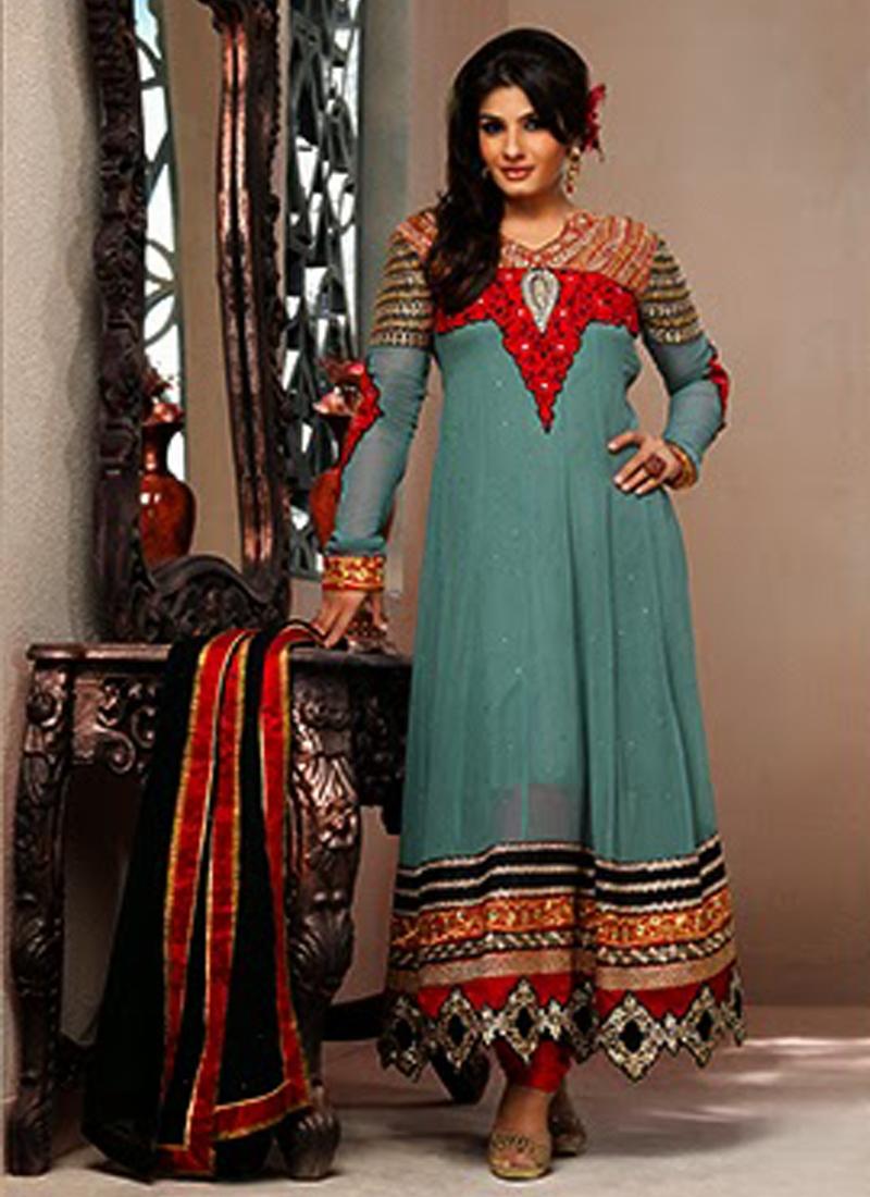 Stone Enhanced Raveena Tandon Salwar Kameez