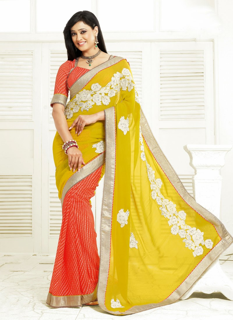 Stone Enhanced Shweta Tiwari Half N Half Saree