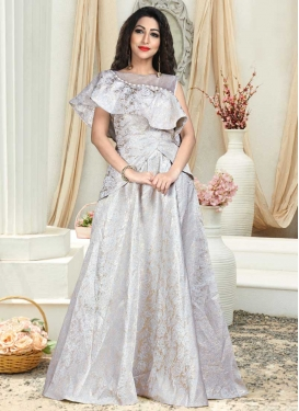 Stone Work Readymade Layered Gown