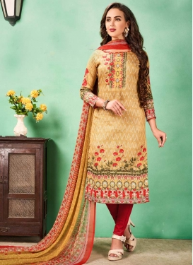 Straight Salwar Kameez For Casual