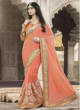 Strange  Beads Work Designer Contemporary Style Saree