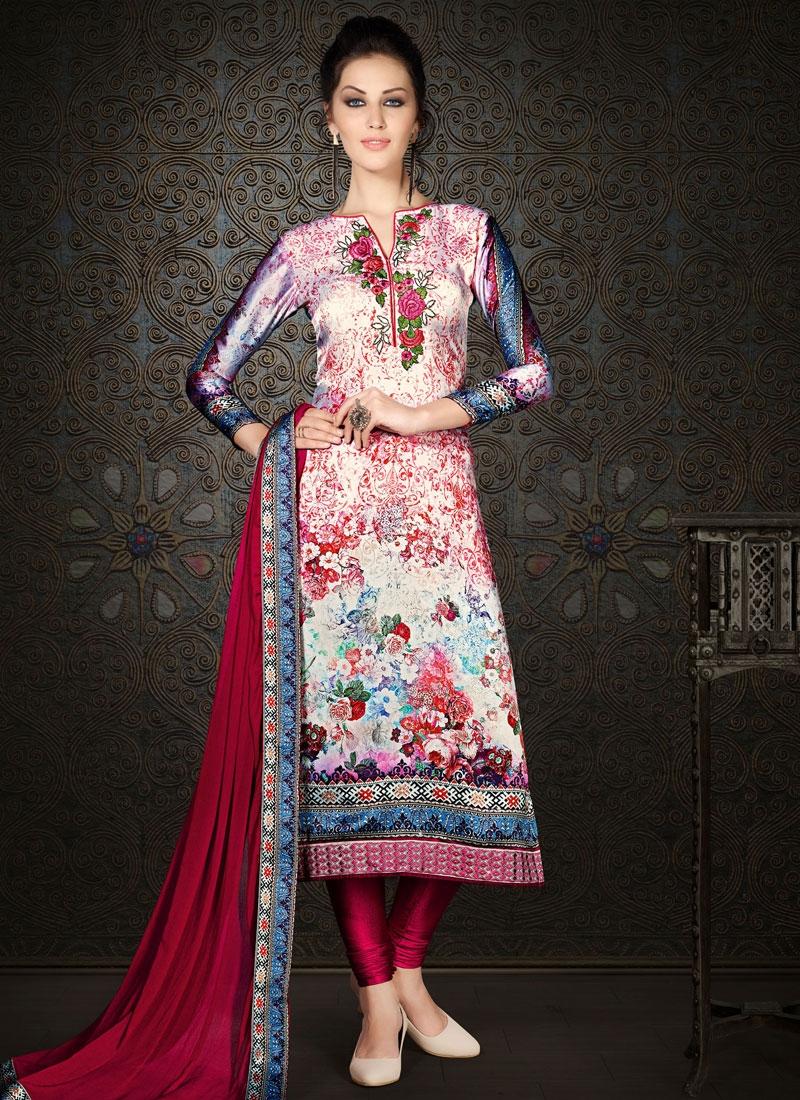 Strange Floral Work Party Wear Salwar Kameez
