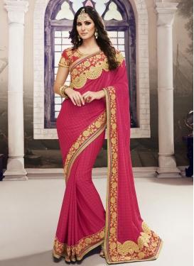 Strange  Lace Work Chiffon Satin Classic Designer Saree