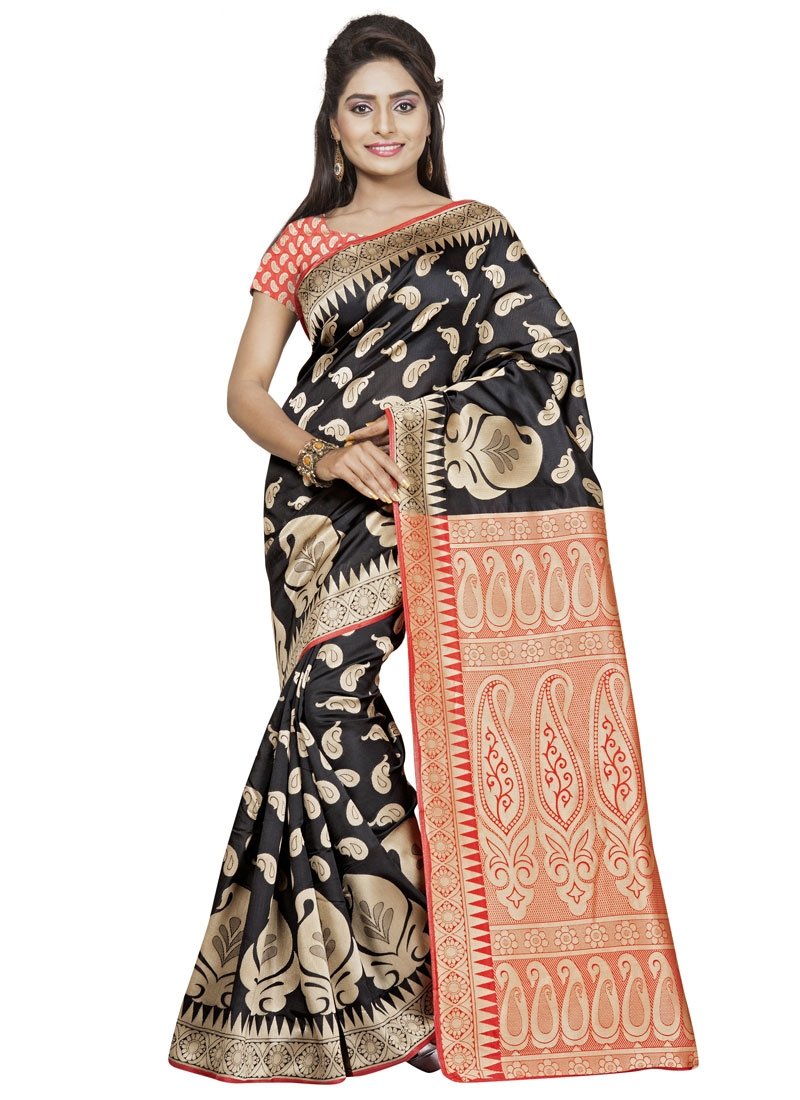 Strange Resham Work Art Silk Casual Saree
