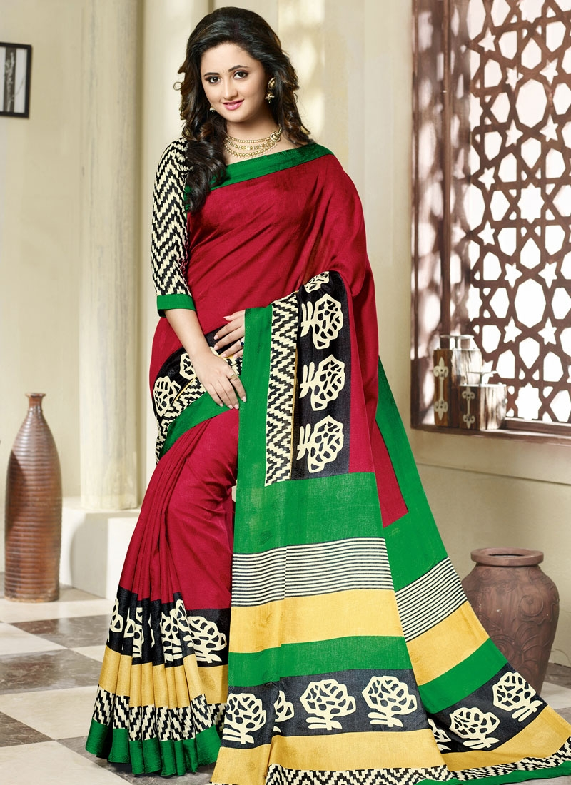 Stupendous Art Silk Rashami Desai Casual Saree