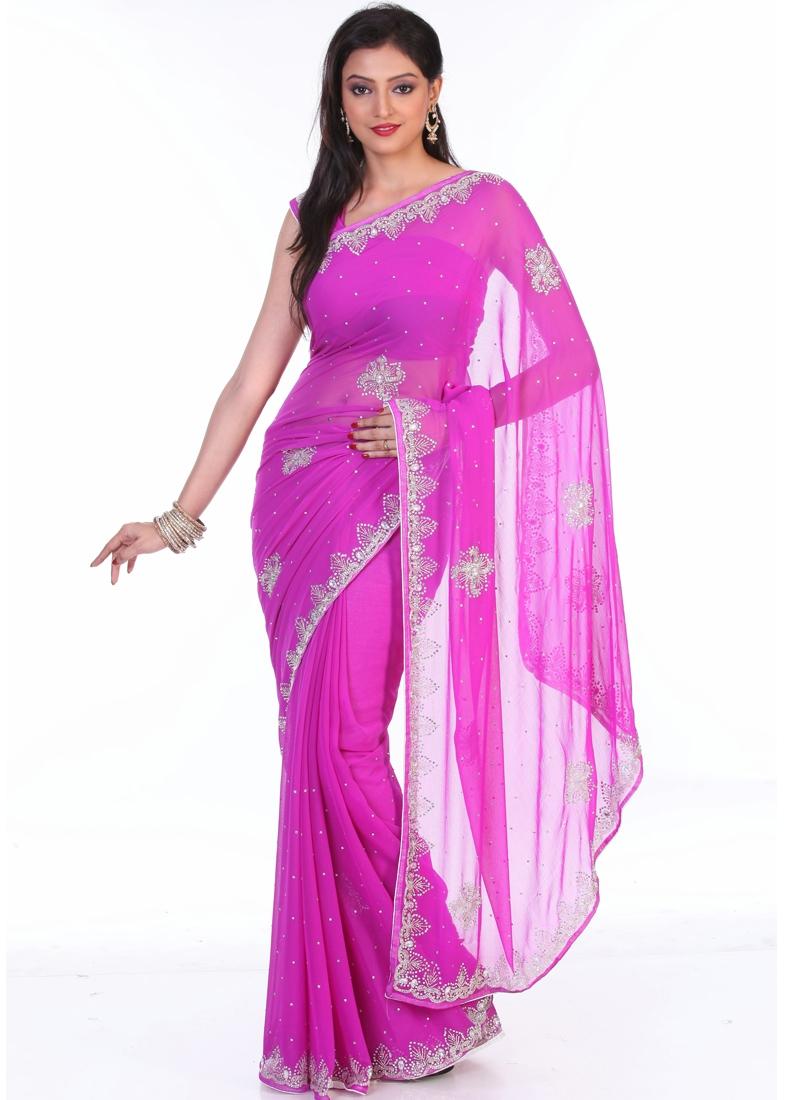 Stupendous Floral Enhanced Party Wear Saree