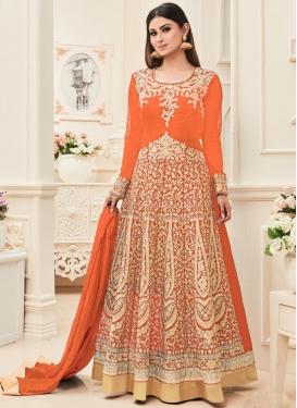 Stupendous Mouni Roy Anarkali Salwar Suit