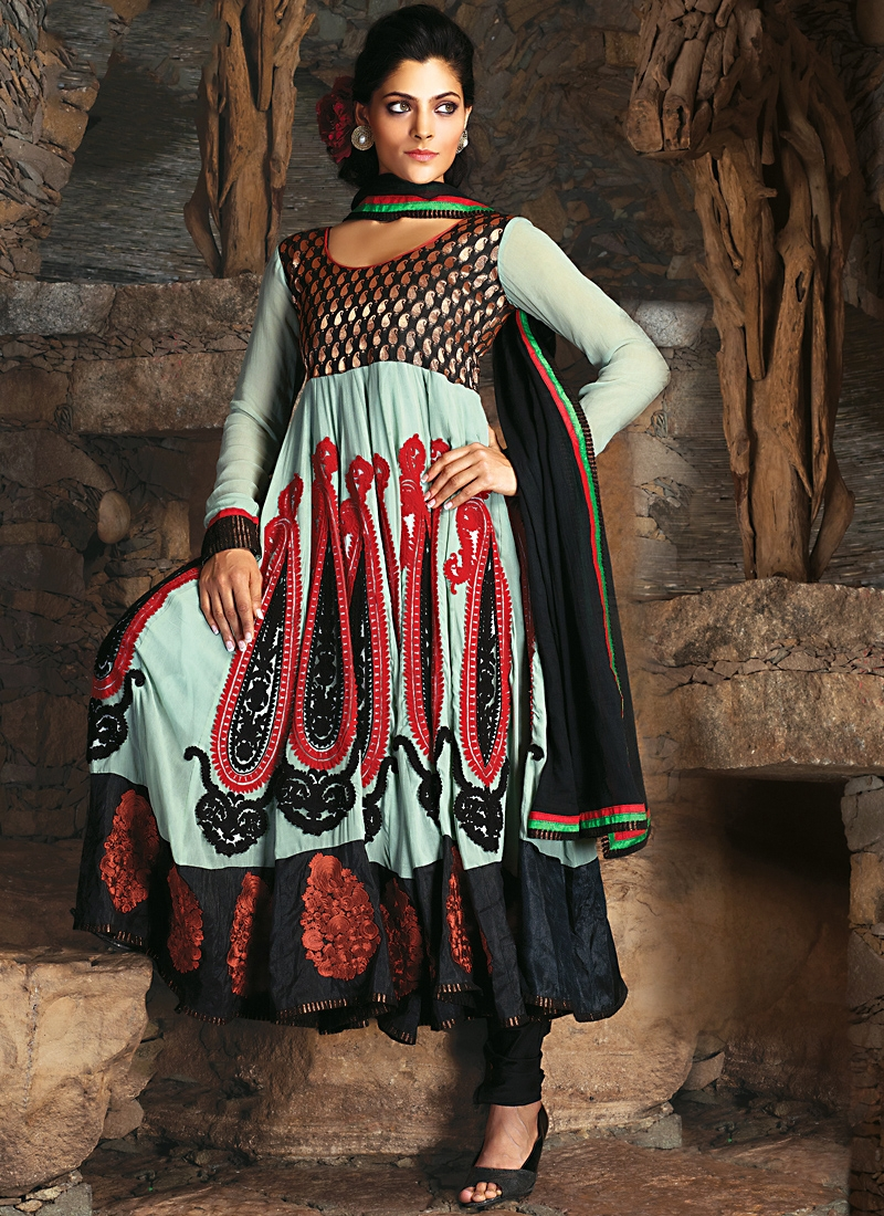 Stupendous Multi Color Georgette Salwar Kameez