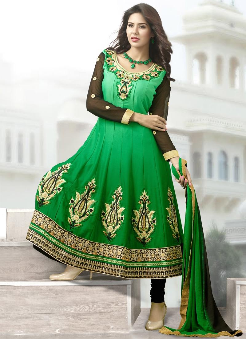 Stupendous Resham Enhanced Anarkali Suit