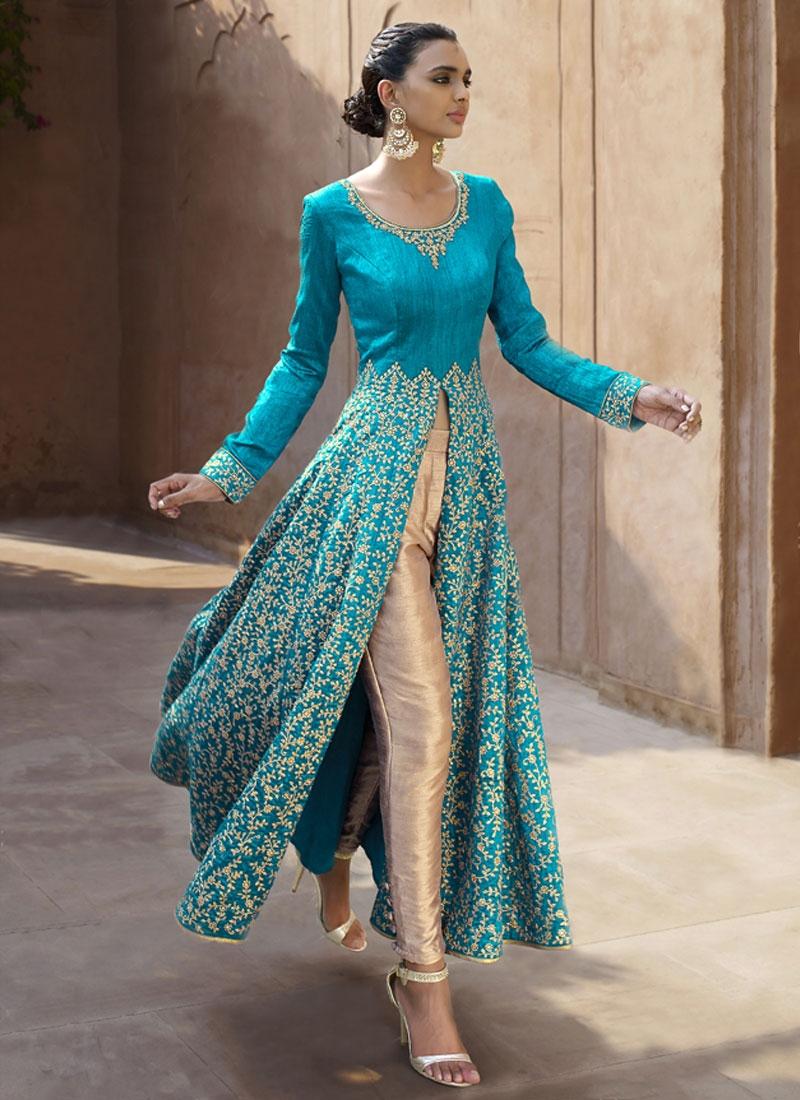 Stupendous Stone Work Pant Style Designer Salwar Kameez