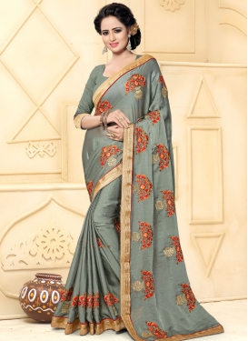 Stylish Beads Work Trendy Classic Saree