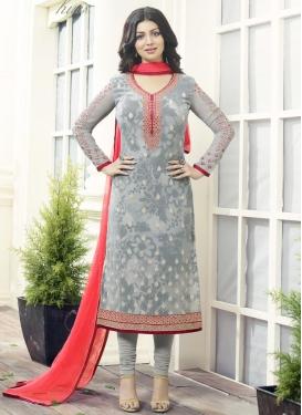 Stylish Digital Print Work Ayesha Takia Trendy Churidar Salwar Kameez