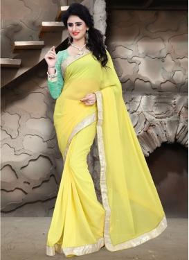 Stylish Yellow Color Casual Saree