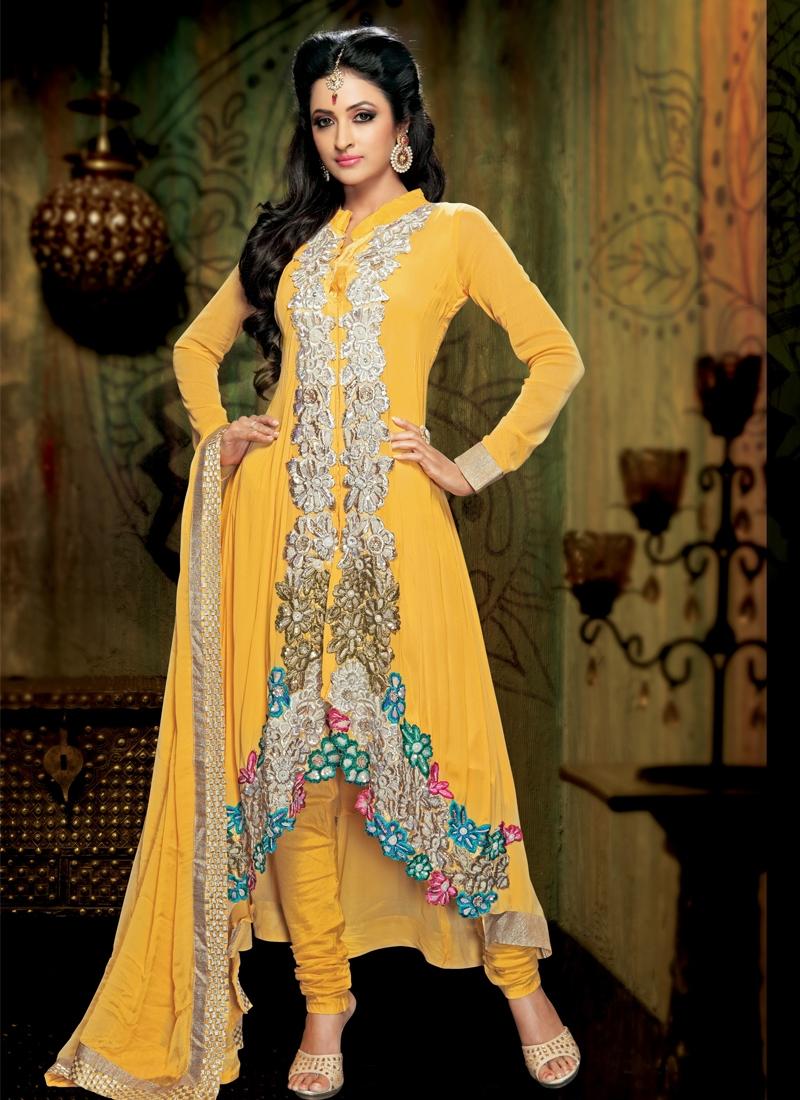 Stylish Yellow Color Designer Salwar Kameez