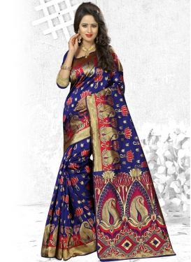 Suave Banarasi Silk Trendy Classic Saree For Festival