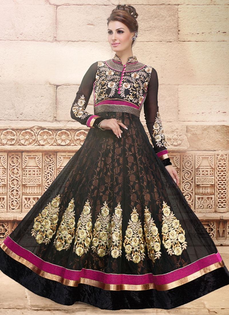 Suave Booti Work Anarkali Salwar Suit