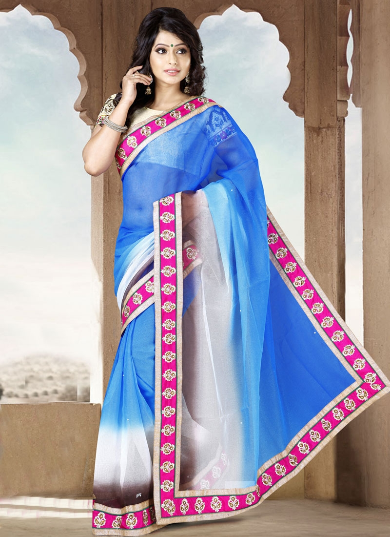 Suave Lace Work Casual Saree