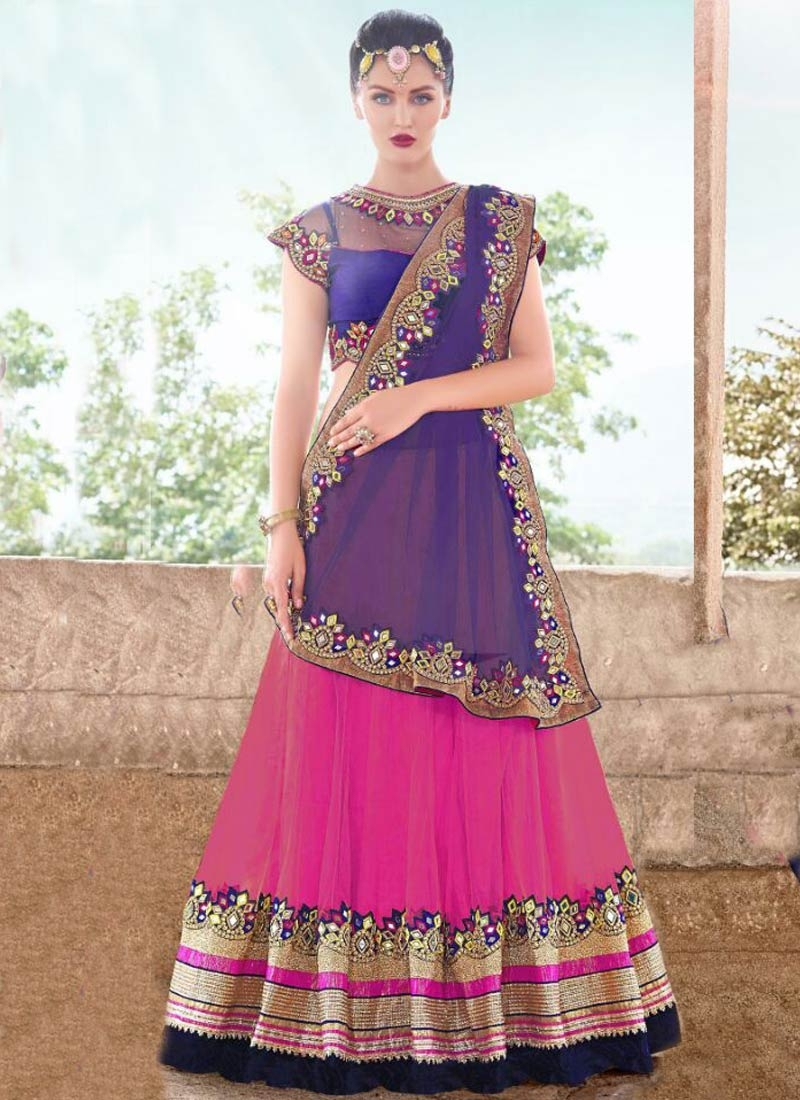 Suave Patch Border And Mirror Work Designer Lehenga Choli