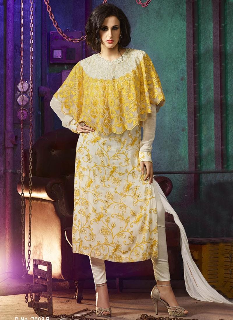 Suave Pure Georgette Pant Style Designer Salwar Kameez