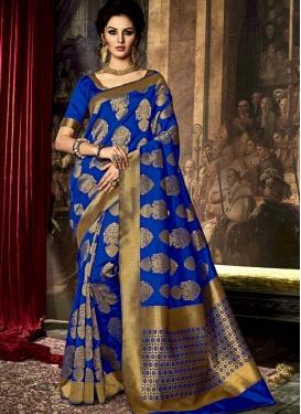 Suave Resham Work Art Raw Silk Traditional Saree