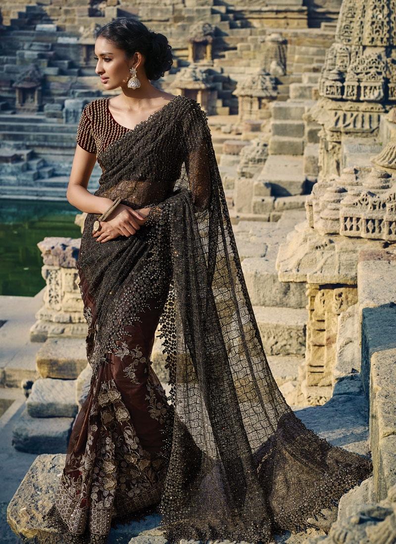 Suave Stone Work Fancy Fabric Designer Saree