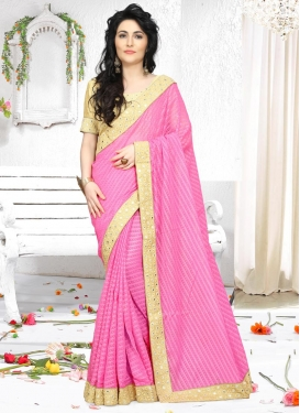 Subtle Faux Georgette Contemporary Saree