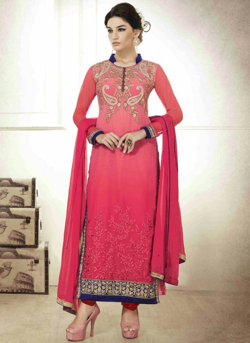 Subtle Faux Georgette Pakistani Salwar Suit
