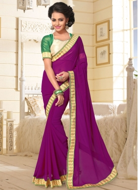 Subtle Purple Trendy Classic Saree