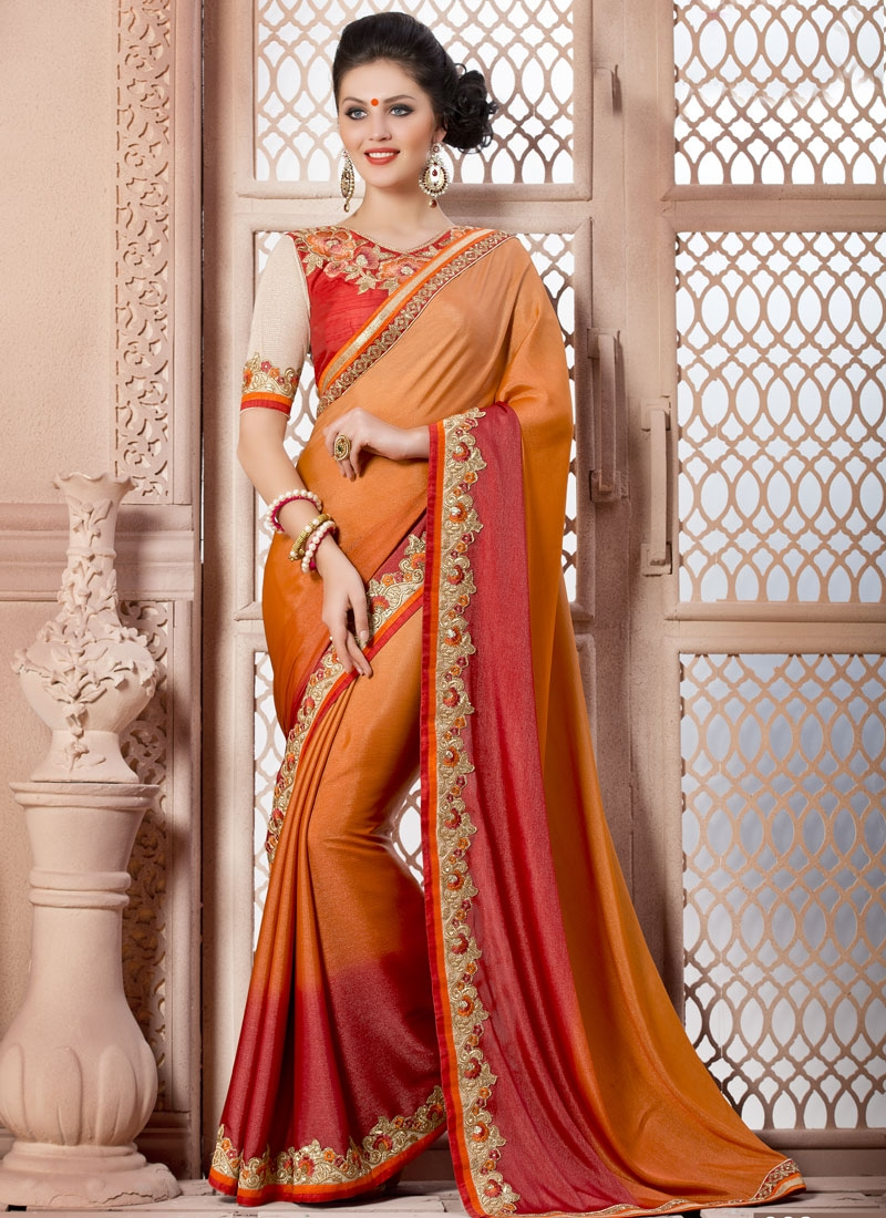 Subtle Sequins Work Party Wear Saree