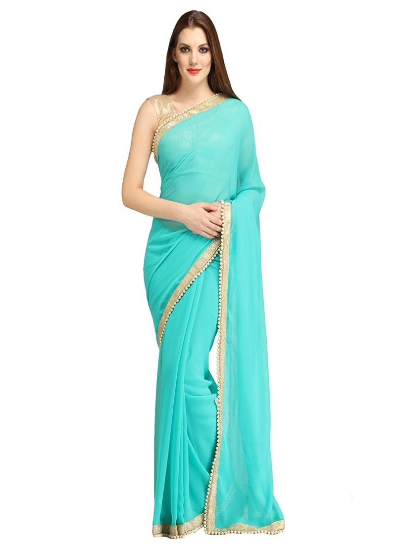 Sumptuous Beads Work Casual Saree