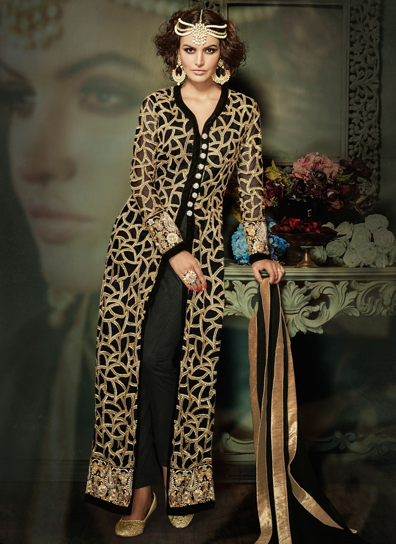 Sumptuous Embroidery Work Pant Style Designer Salwar Suit