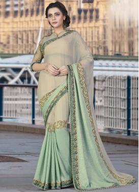 Sumptuous  Faux Chiffon Trendy Designer Saree