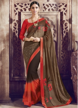 Sumptuous Faux Georgette Party Wear Saree