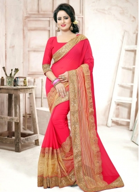 Sumptuous  Faux Georgette Traditional Designer Saree