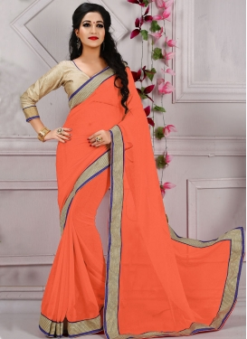Sumptuous Lace And Resham Work Casual Saree