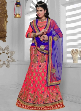 Sumptuous Rose Pink Color Net Wedding Lehenga Choli