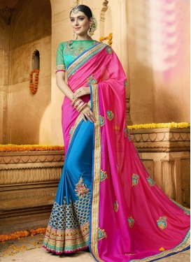 Sumptuous  Satin Silk Half N Half Trendy Saree