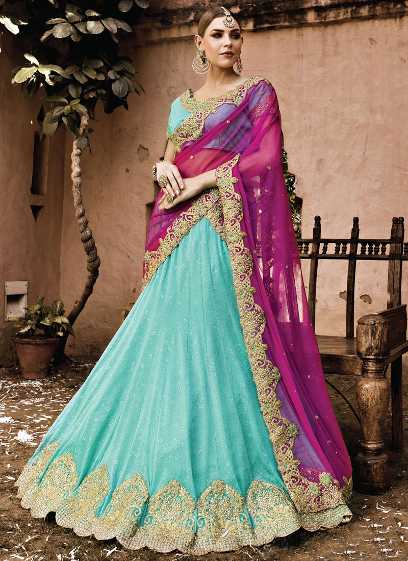 Sumptuous Stone Work Wedding Lehenga Choli