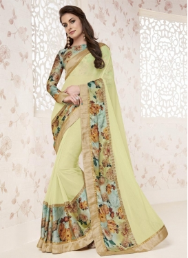 Sunshine  Digital Print Work Contemporary Saree