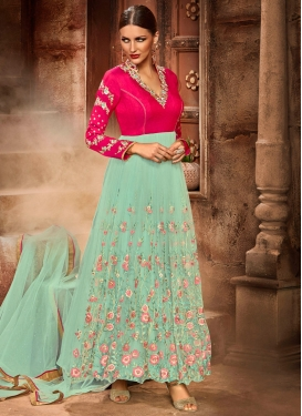 Sunshine Rose Pink Kalidar Suit