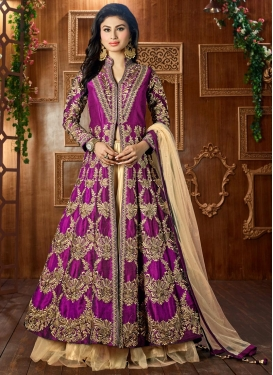 Superb Booti Work Mouni Roy Designer Long Choli Lehenga
