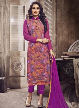 Superb  Digital Print Work Pant Style Salwar Kameez