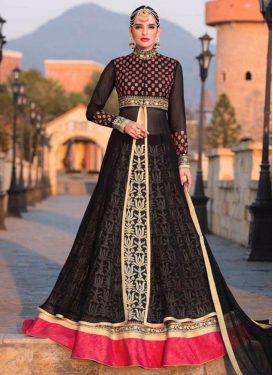 Superb Faux Georgette Kameez Style Lehenga Choli