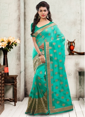 Superb Sequins Work Faux Georgette Wedding Saree