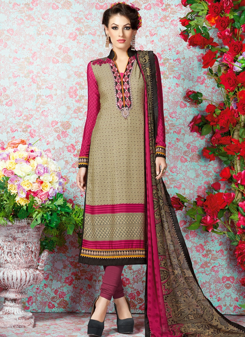 Superb Stone And Resham Work Casual Salwar Suit