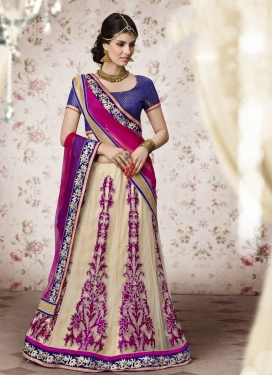 Superb Velvet Patch Wedding Lehenga Choli