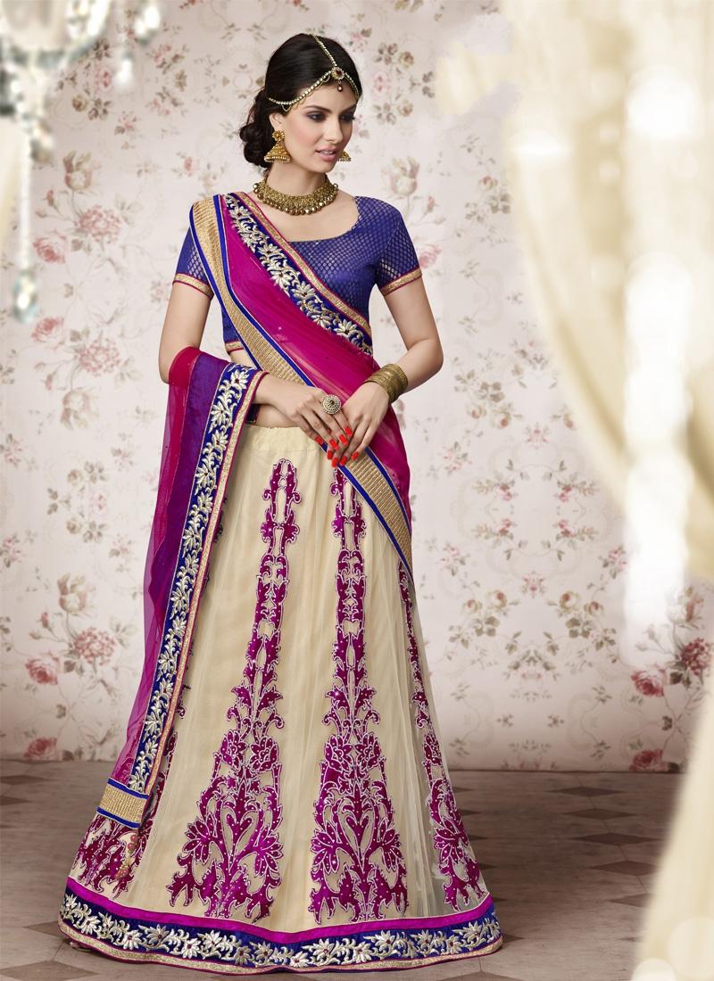 Superb Velvet Patch Wedding Lehenga Choli