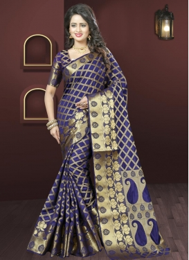 Superlative  Art Silk Resham Work Traditional Saree