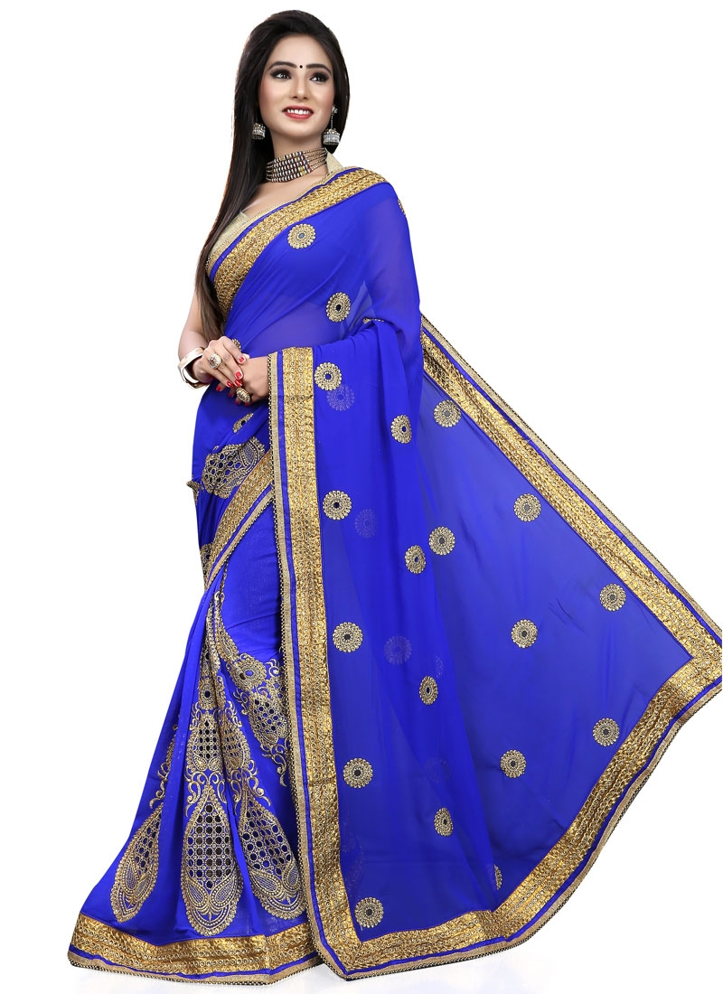 Superlative Booti Work Designer Saree