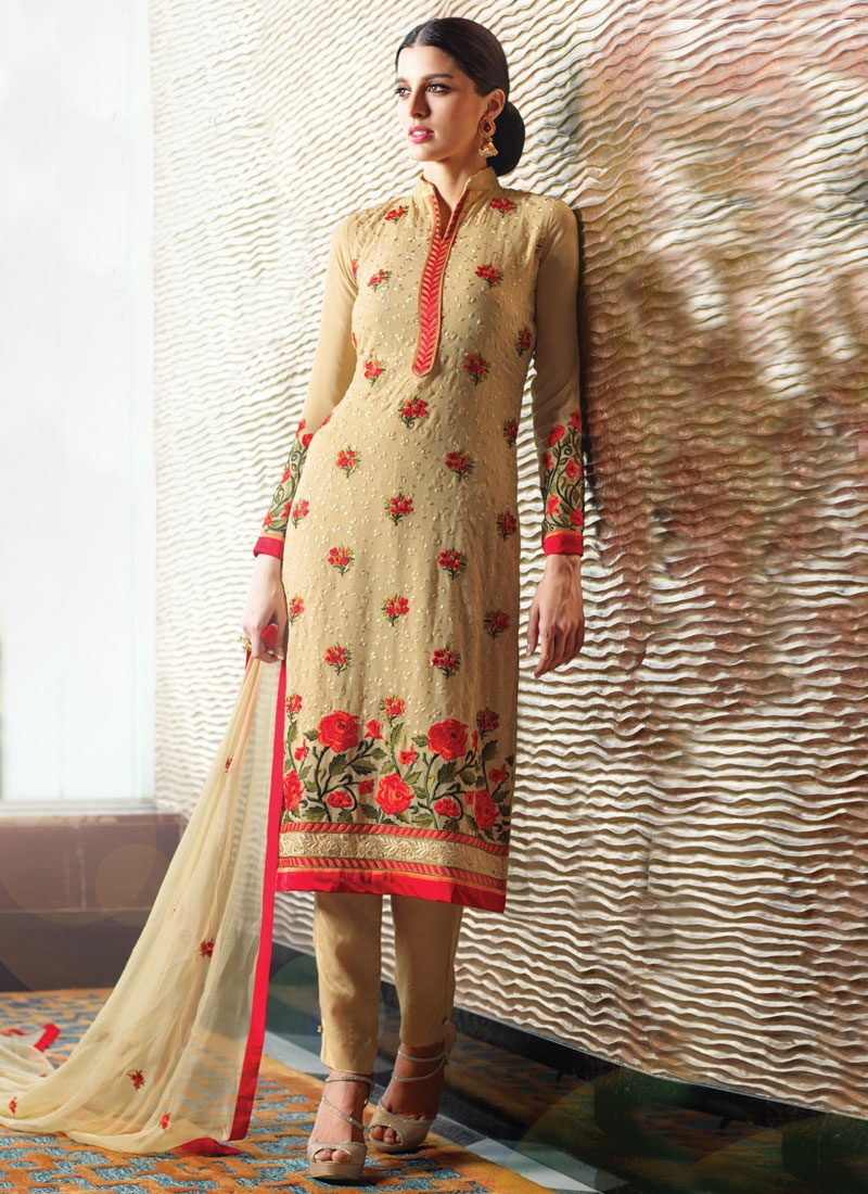 Superlative Embroidery Work Pant Style Party Wear Salwar Suit